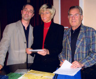 Montags im Foyer - am 13. Juni 2005, von links: Dr. Steffen Seiferling, Angela Kalms, Dr. Götz Ehrhardt