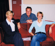 Montags im Foyer - am 30. Mai 2005, von links: Angela Kalms, Dr. Götz Ehrhardt, Jutta Wörne (Ballettdirektorin)