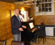 Montags im Da Capo am 17.03.2014 - v.l. Florian Kontschak, Michael Ellis Ingram
